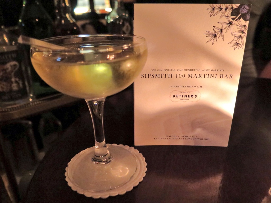 sipsmith 100 martini pop-up bar