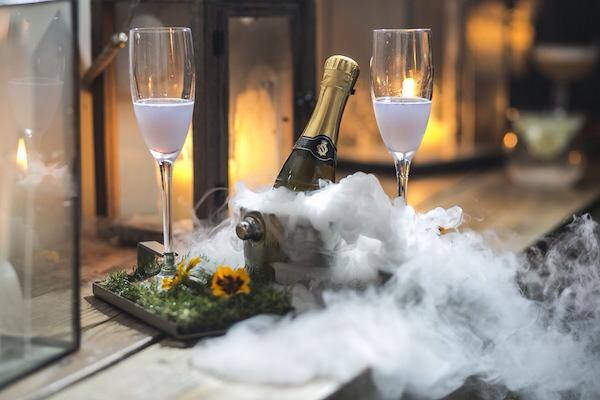 Elixir Tonics and Treats Manchester champagne and smoke