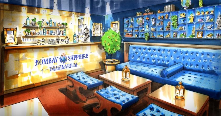 Callooh Callay Imaginarium pop-up Bombay Sapphire