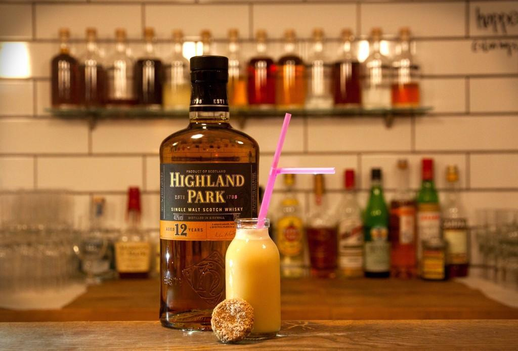 Lucky Liquor Co Edinburgh Hobnob Flip cocktail