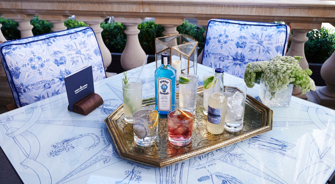 BOMBAY SAPPHIRES ULTIMATE GIN & TONIC TERRACE AT ROSEWOOD LONDON COCKTAI...