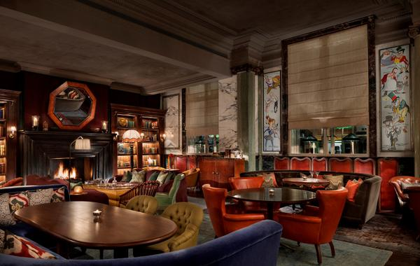 Scarfes Bar at Rosewood London interior