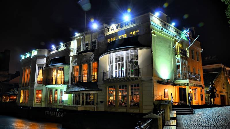 Trafalgar Tavern London exterior