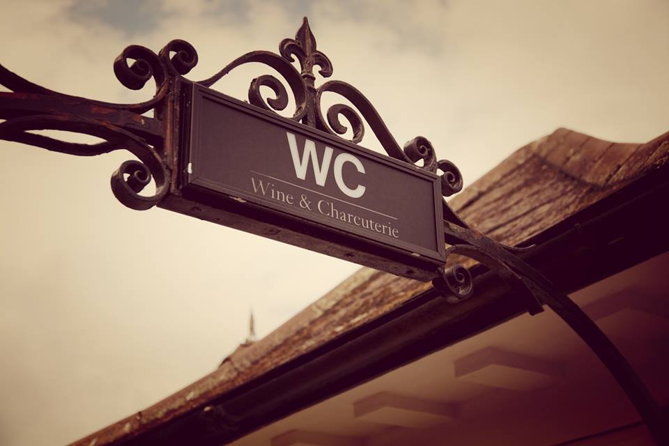 WC Wine and Charcuterie sign