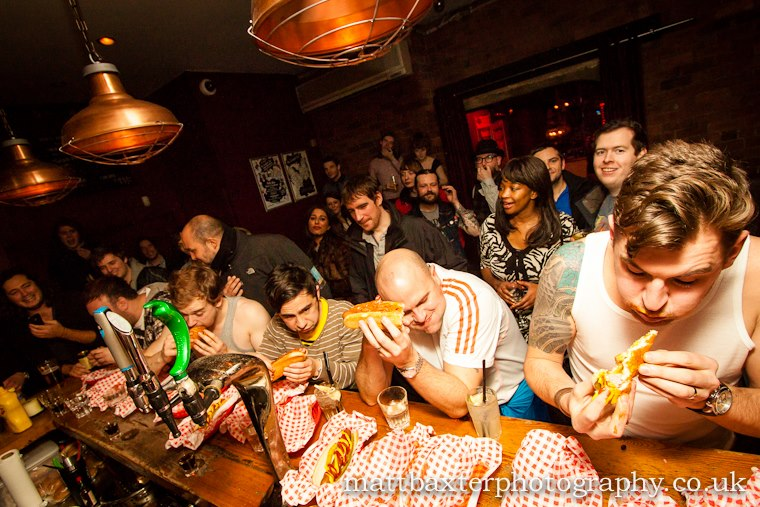 Oporto Leeds hot dog eating contest