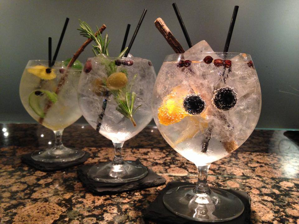PUrnell's Bistro and Ginger's Bar Birmingham Gin and Tonics