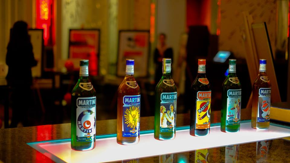 Art of Aperitif Martini bottles Langham London