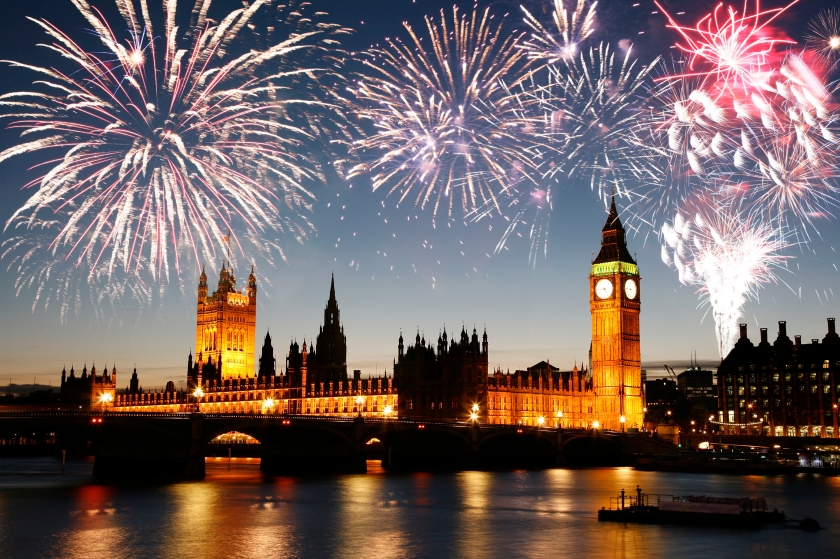 Guy Fawkes Fireworks over Palace of Westminster
