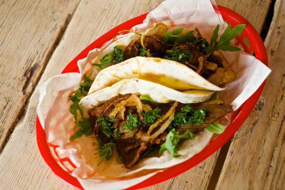 Sidewinder Brighton beef brisket taco