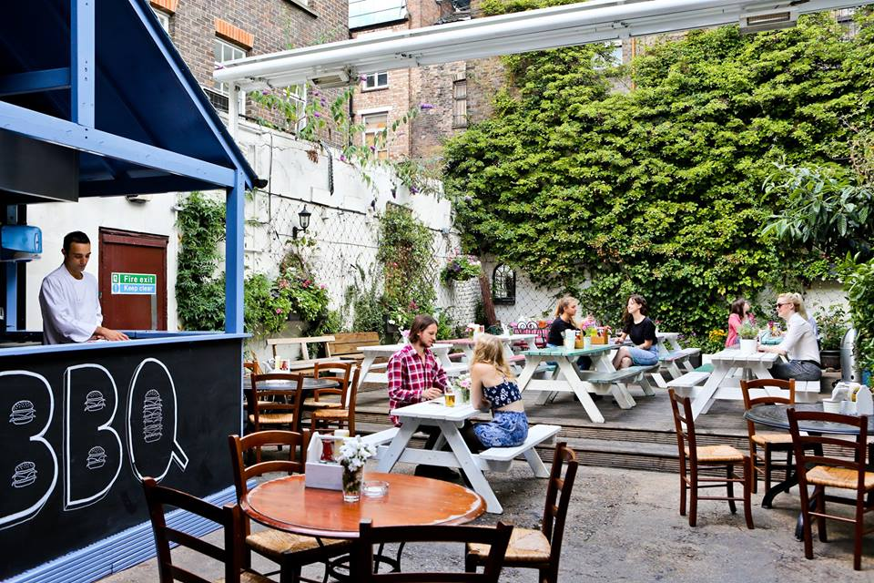 The Water Poet Spitalfields beer garden