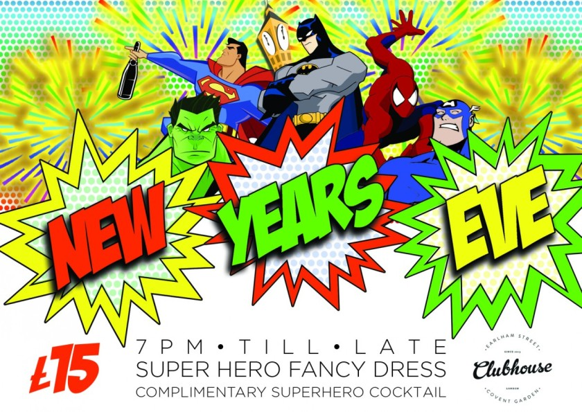 Earlham Street Clubhouse 90s Superhero Party