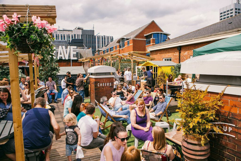Belgrave Music Hall Leeds beer garden